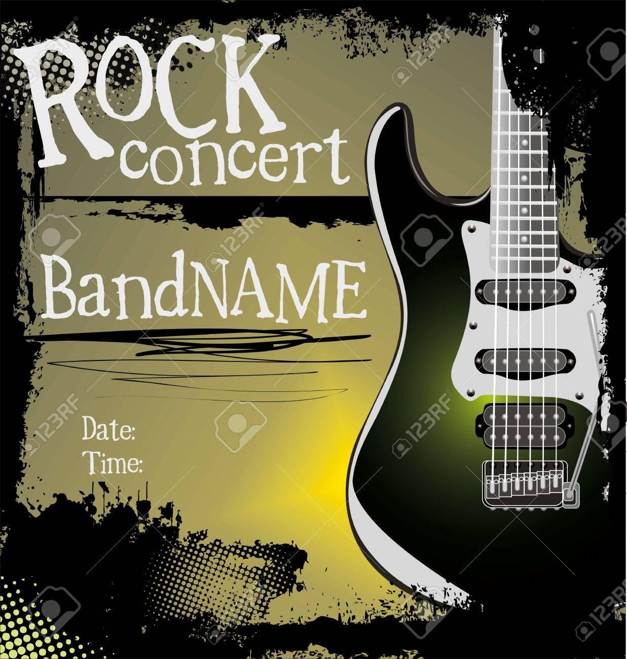 Grunge rock music background Stock Vector - 19083497