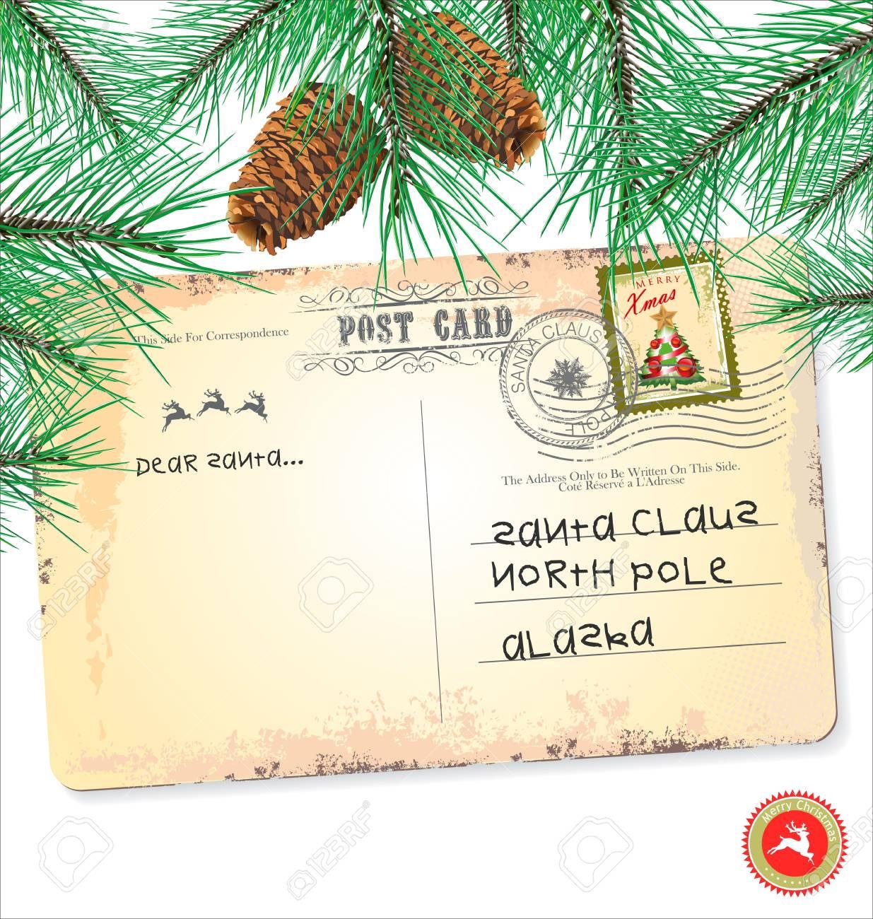 Vintage christmas postcard Stock Vector - 19083538