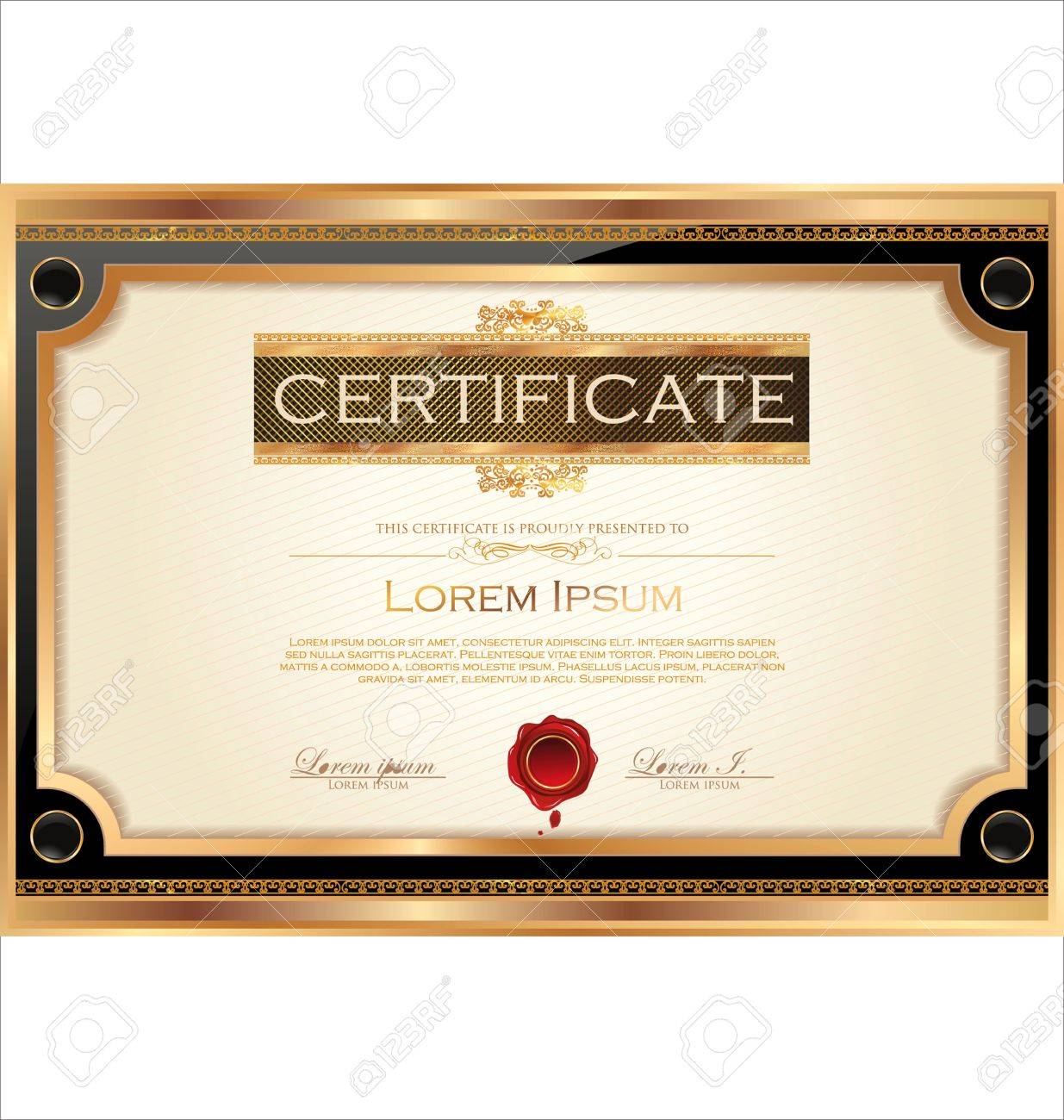 Certificate template royalty free cliparts vectors and stock certificate template stock vector 19137574 yadclub Images