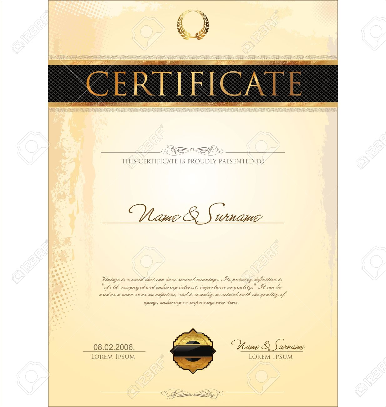 Certificate Template Stock Vector   19137571  Business Certificates Templates