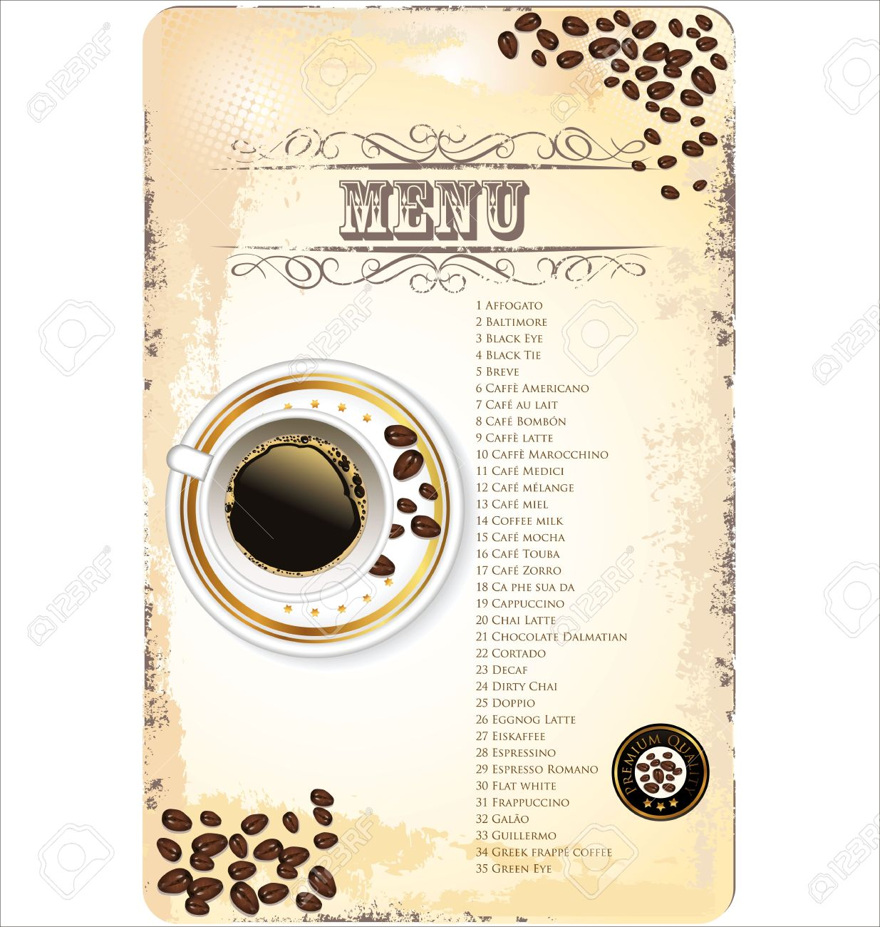coffee shop menu template royalty free cliparts vectors and stock