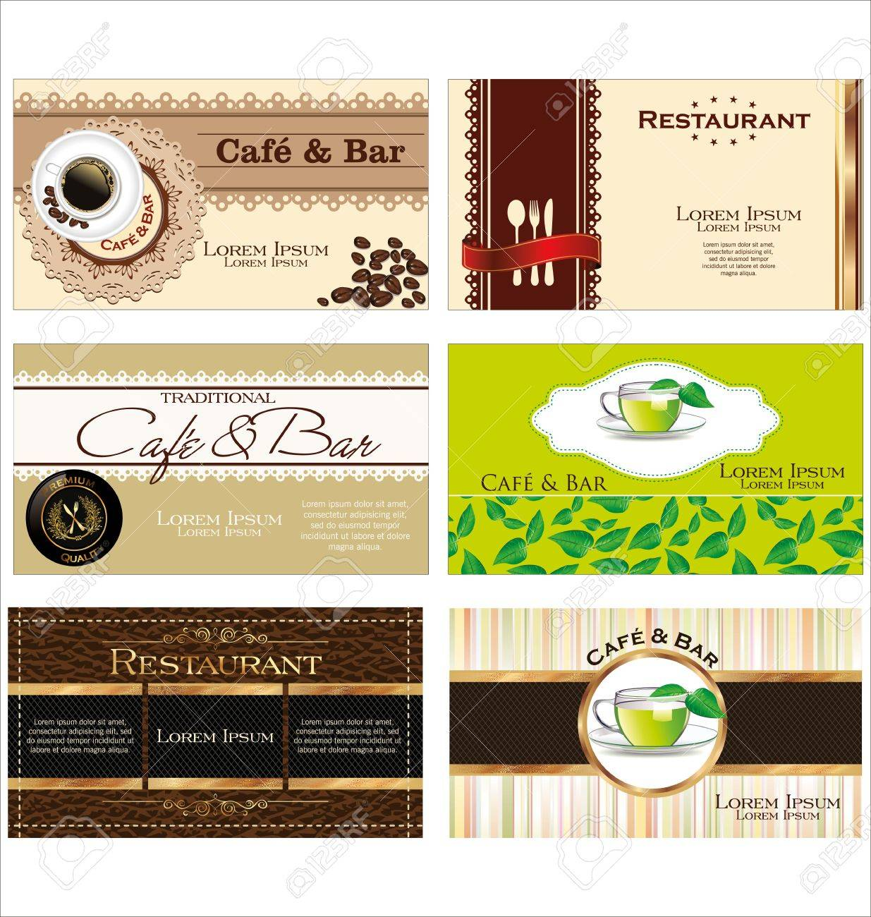 Business cards for cafe and restaurant royalty free cliparts business cards for cafe and restaurant stock vector 19160335 reheart Image collections