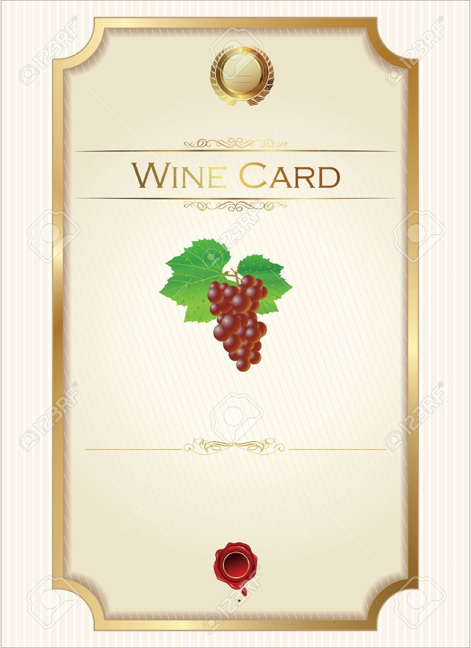 Wine Menu Template With A Price List Royalty Free Cliparts