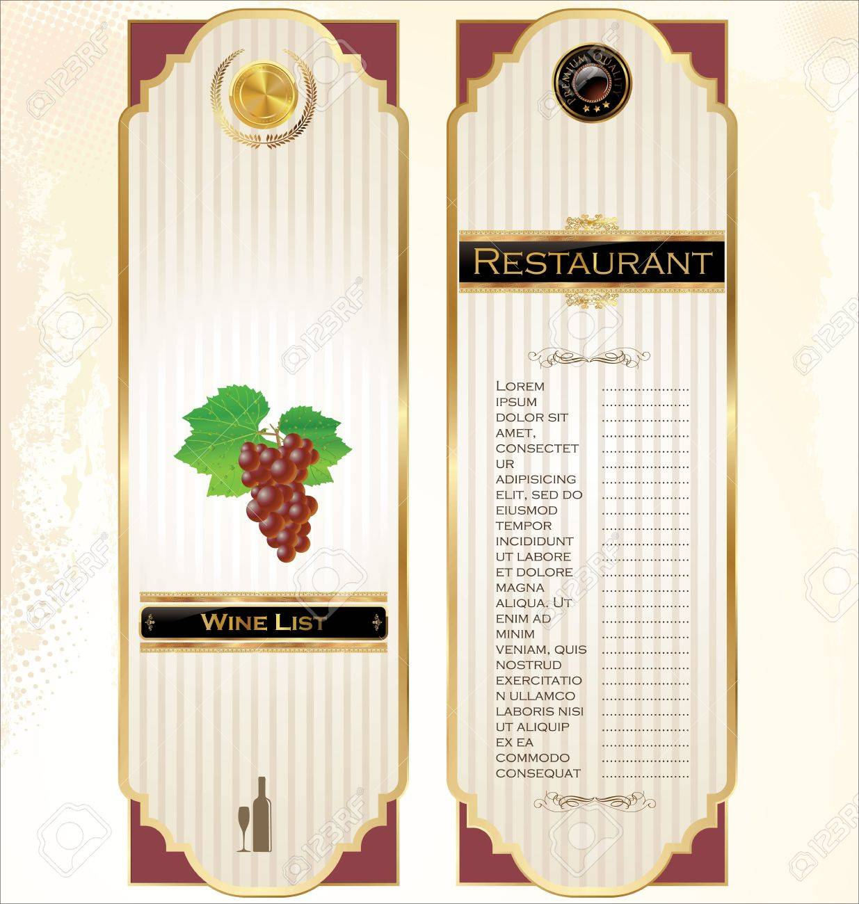 Wine menu template with a price list royalty free cliparts wine menu template with a price list stock vector 19462911 pronofoot35fo Gallery