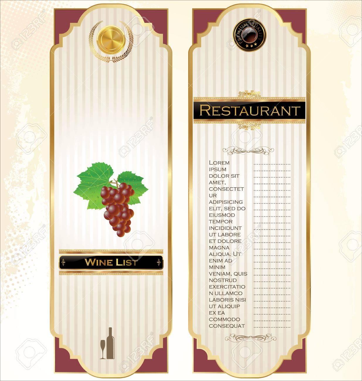 Doc13001390 Free Wine List Template Wine List Template Vector – Sample Wine Menu Template
