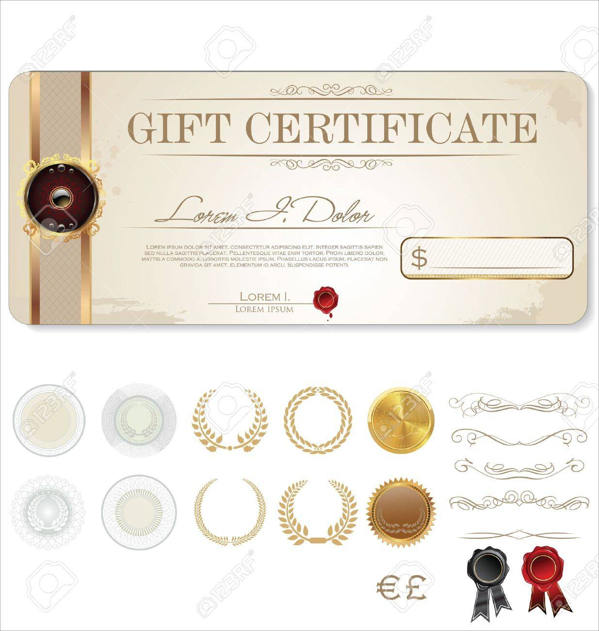luxury gift card template royalty cliparts vectors and luxury gift card template stock vector 19462732