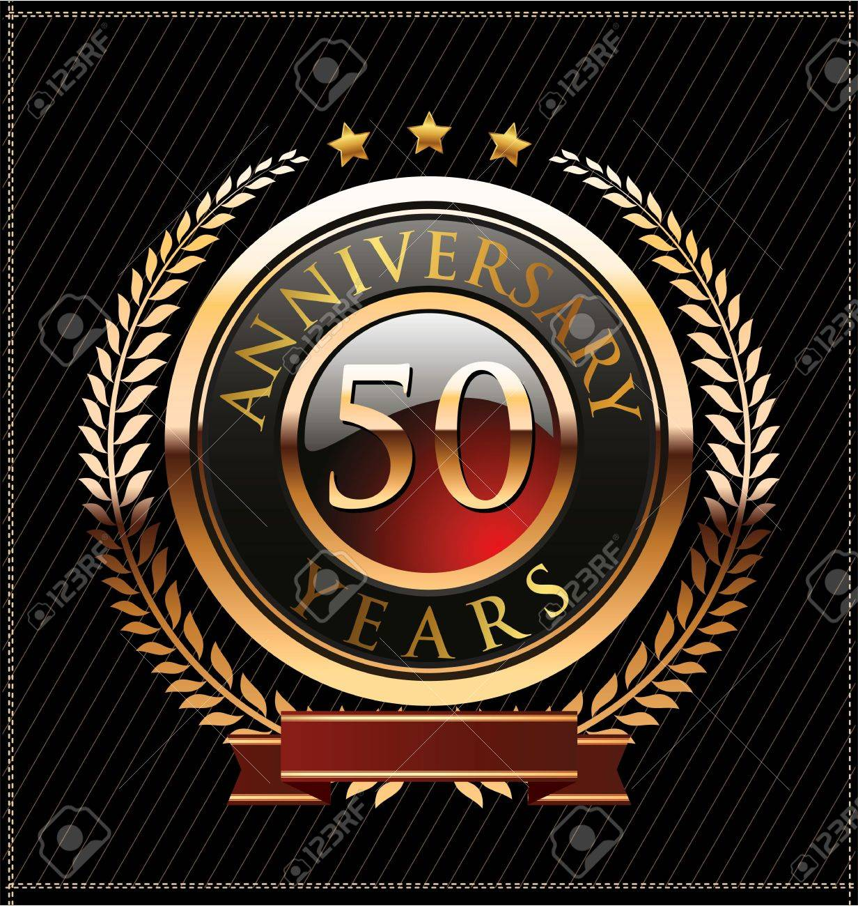 50 years anniversary golden label Stock Vector - 19463335