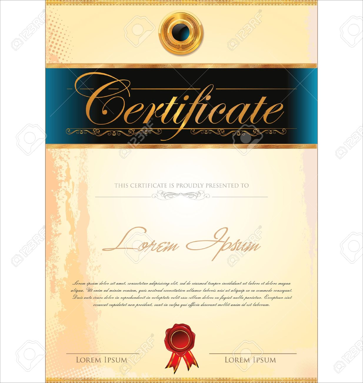 Certificate template royalty free cliparts vectors and stock certificate template stock vector 19466062 xflitez Gallery