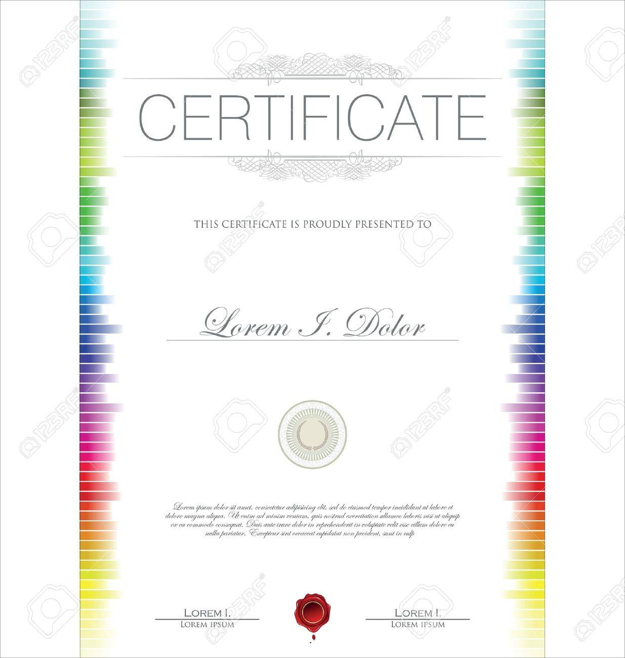 Colorful Certificate Template Royalty Free Cliparts, Vectors, And ...