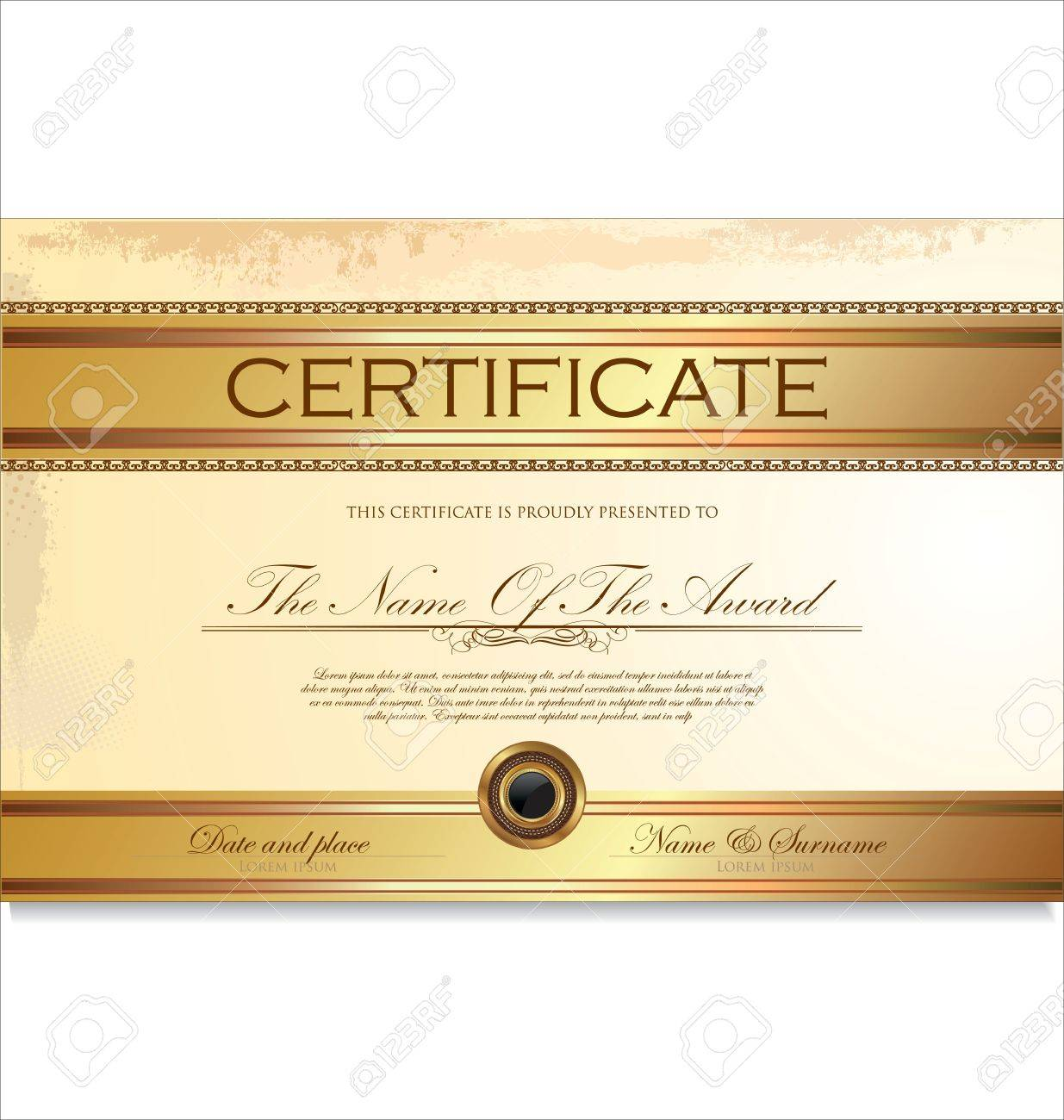 Certificate Or Diploma Template Illustration Royalty Free Cliparts