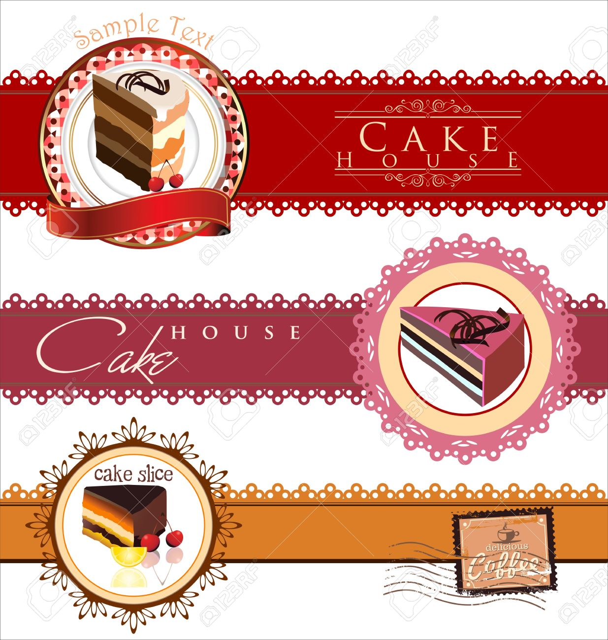 Labels with cupcake invitation template royalty free cliparts labels with cupcake invitation template stock vector 19727851 stopboris Images