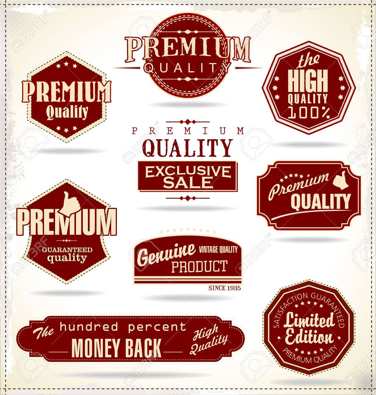 Set of Retro Vintage labels Stock Vector - 20168893