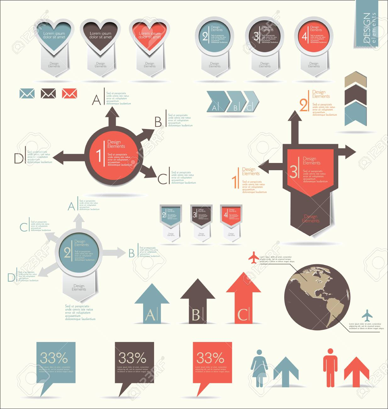 Retro infographics set Stock Vector - 20882820