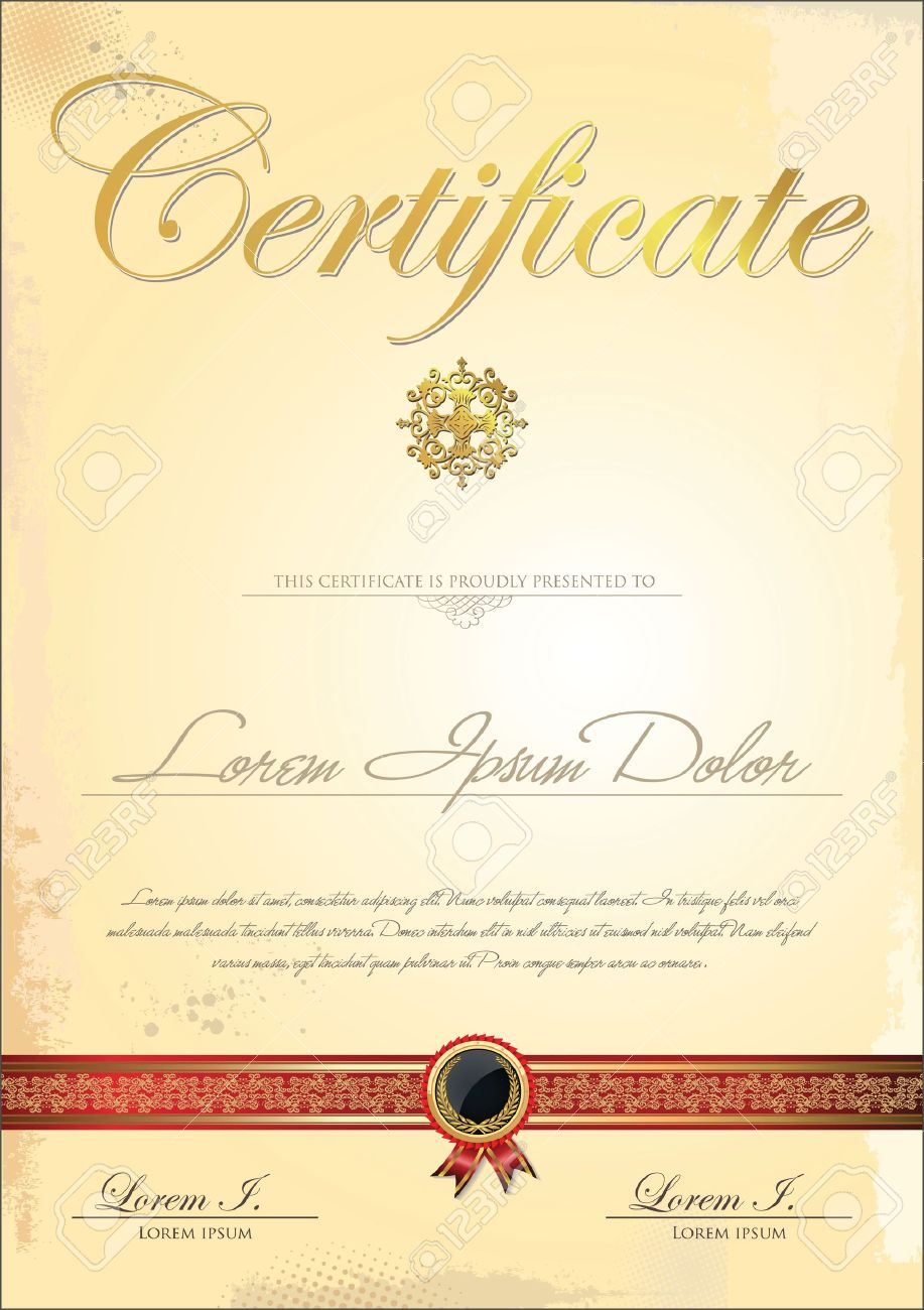 Certificate template Stock Vector - 21317294