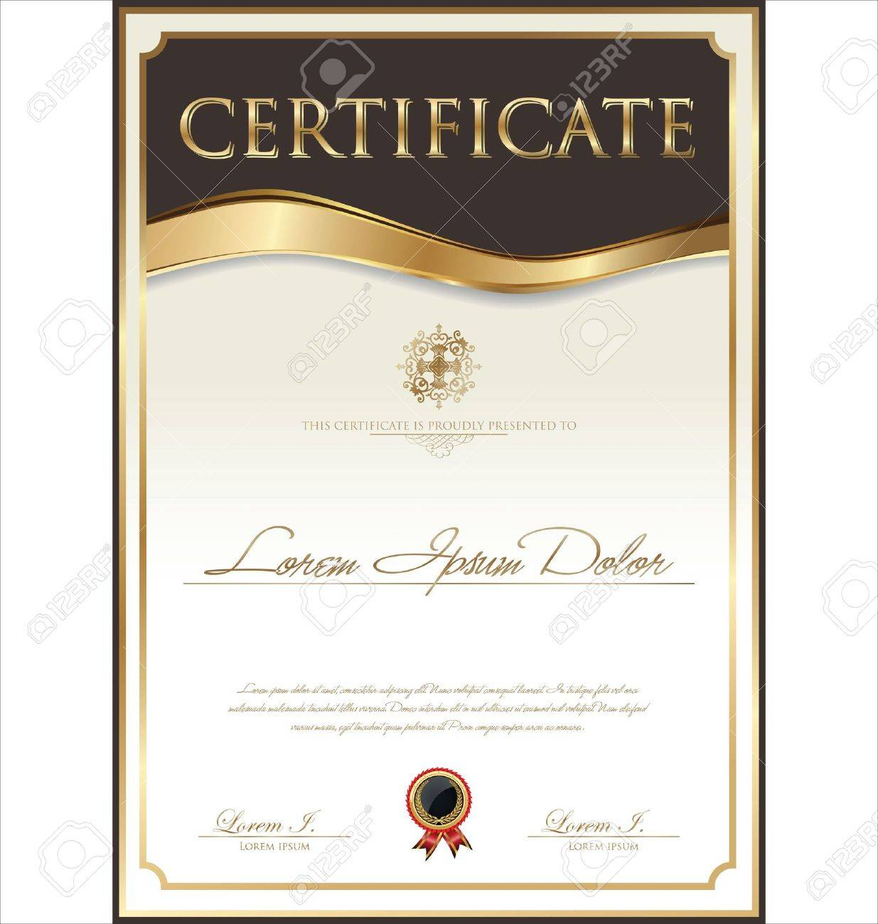 Certificate template Stock Vector - 21317305