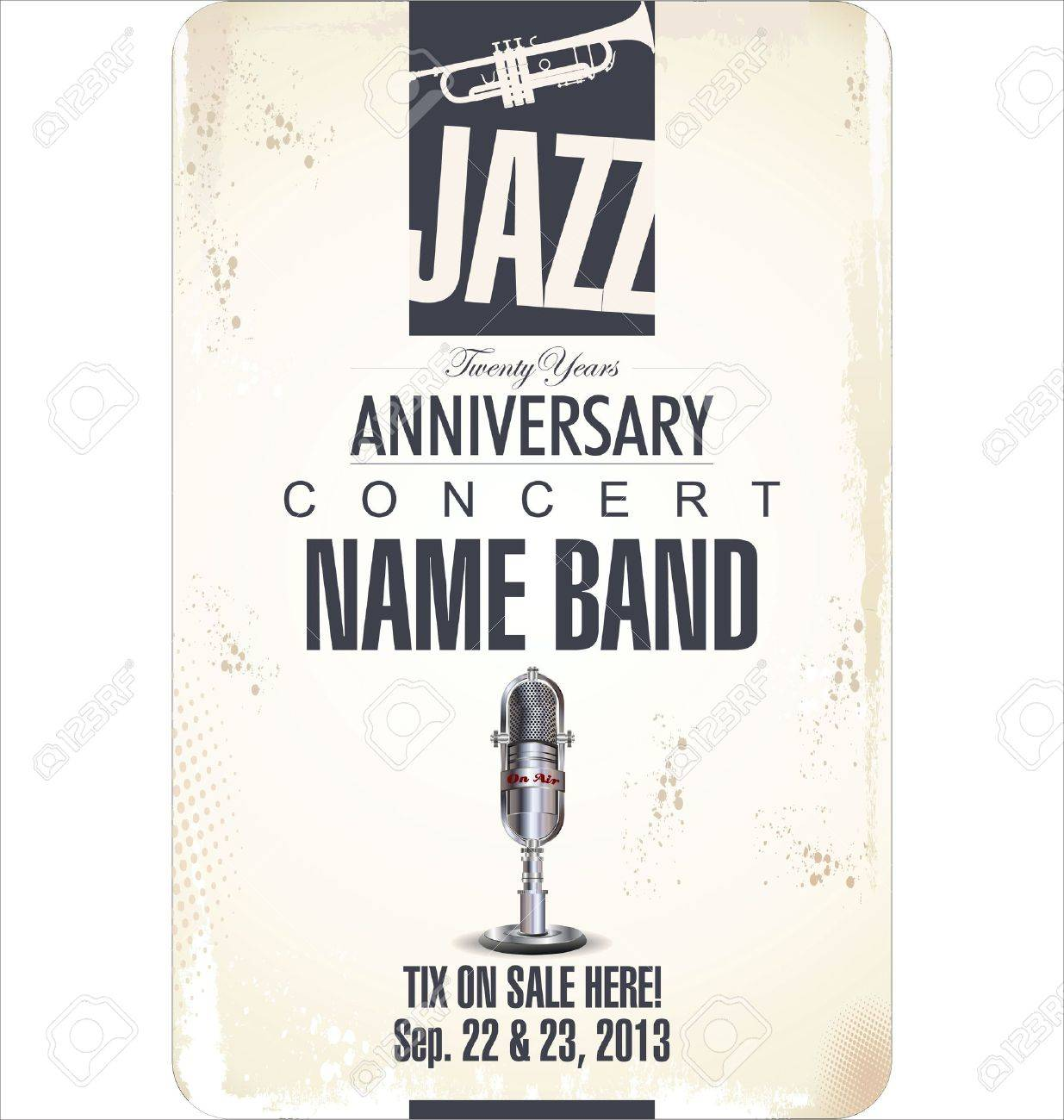 Jazz background Stock Vector - 21822912