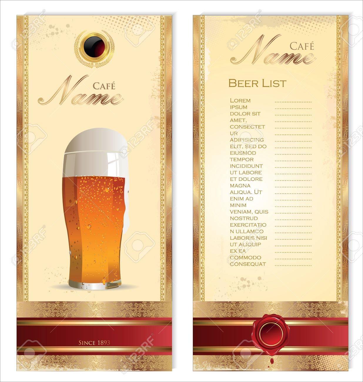 Beer cafe design Stock Vector - 21873943