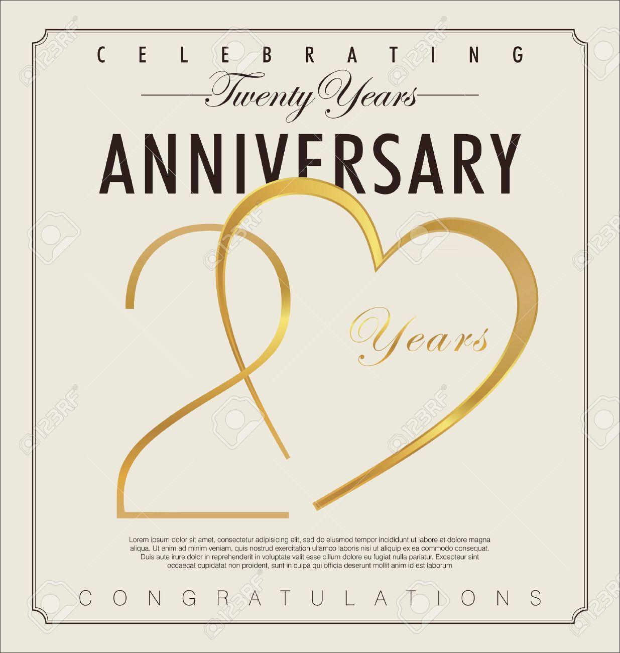 Anniversario Di Matrimonio 20.20 Years Anniversary Retro Background Royalty Free Cliparts