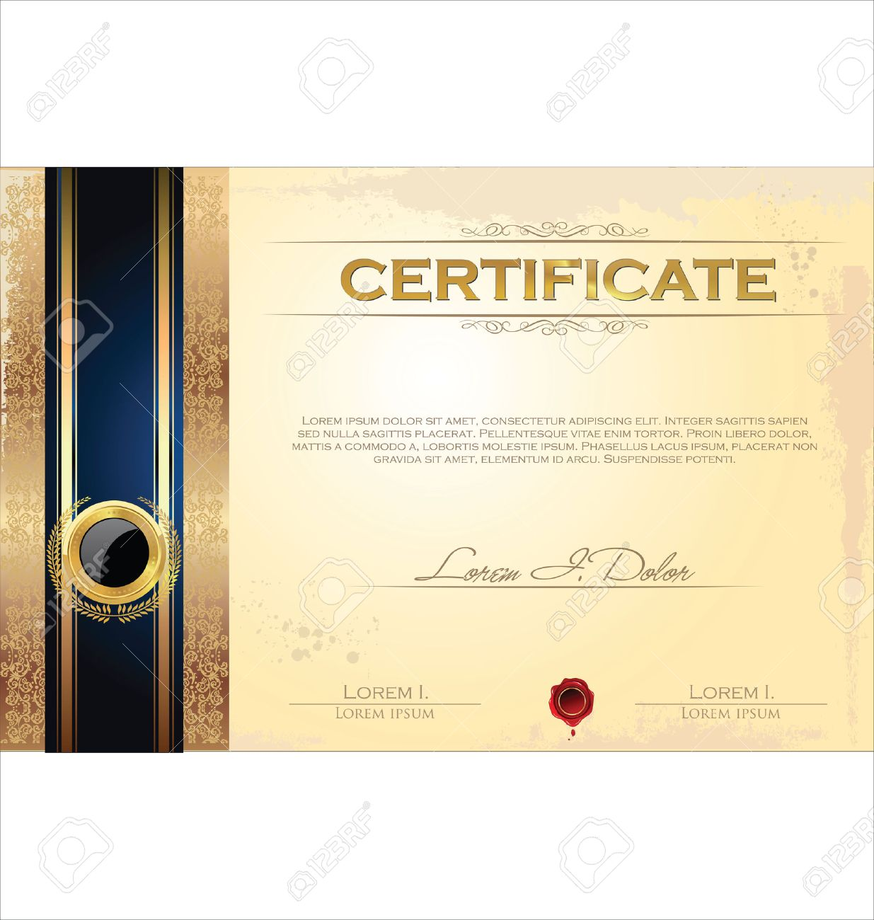 Certificate or diploma template, vector illustration Stock Vector - 23200519