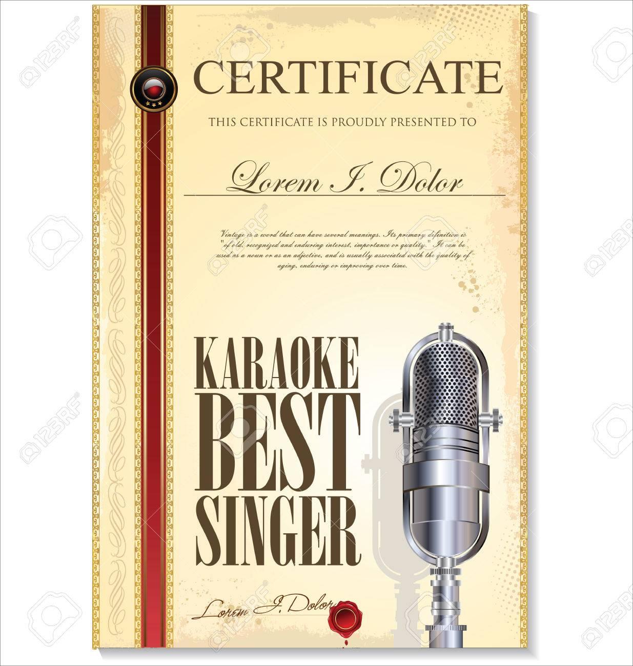 Karaoke certificate template best singer royalty free cliparts karaoke certificate template best singer stock vector 23320072 yadclub Images