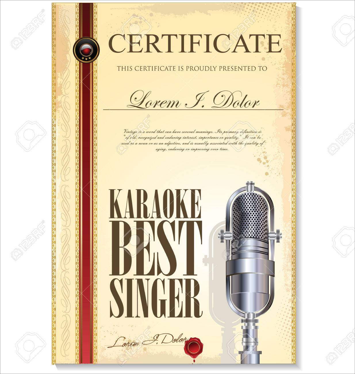 Karaoke Zertifikat Vorlage, Beste Sängerin Lizenzfrei Nutzbare ...
