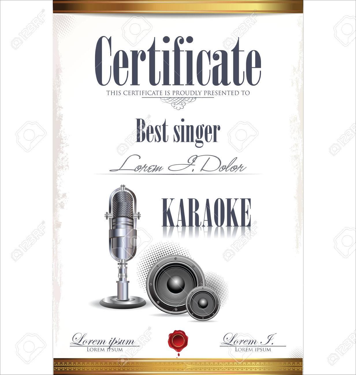 Karaoke certificate template best singer royalty free cliparts karaoke certificate template best singer stock vector 23320095 yadclub Images