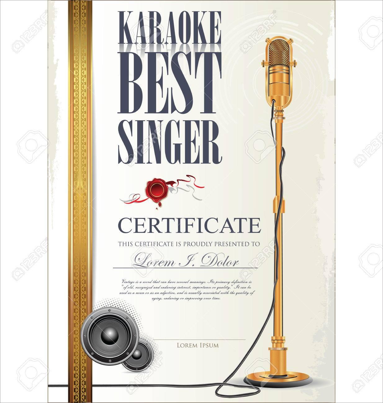 Karaoke certificate template best singer royalty free cliparts karaoke certificate template best singer stock vector 23320109 yadclub Image collections