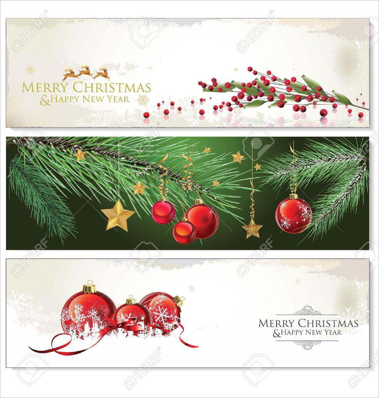 Christmas Banners.Merry Christmas Banners Set Design