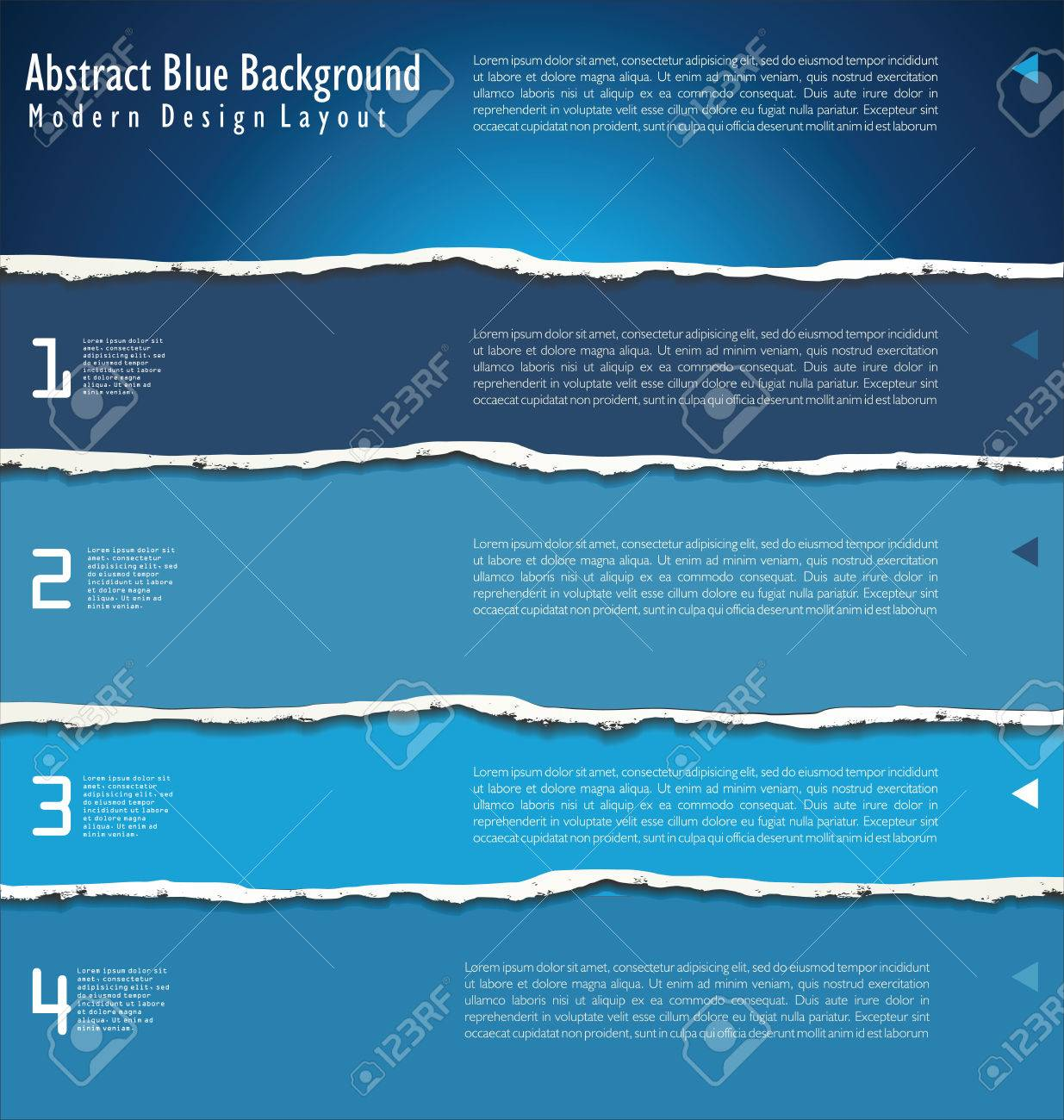 Blue Torn paper background with space for text Stock Vector - 24248354