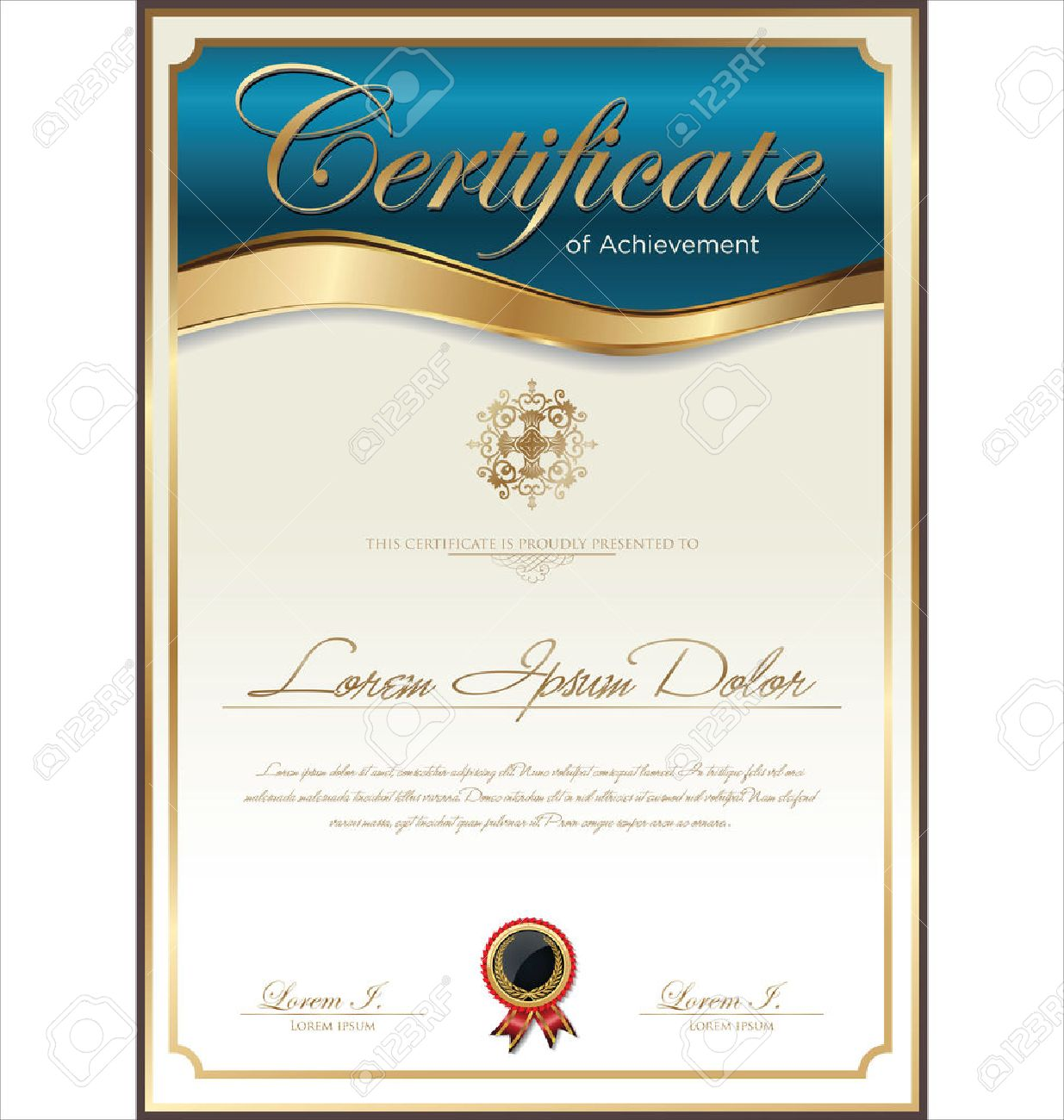 Certificate Template Royalty Free Cliparts, Vectors, And Stock ...