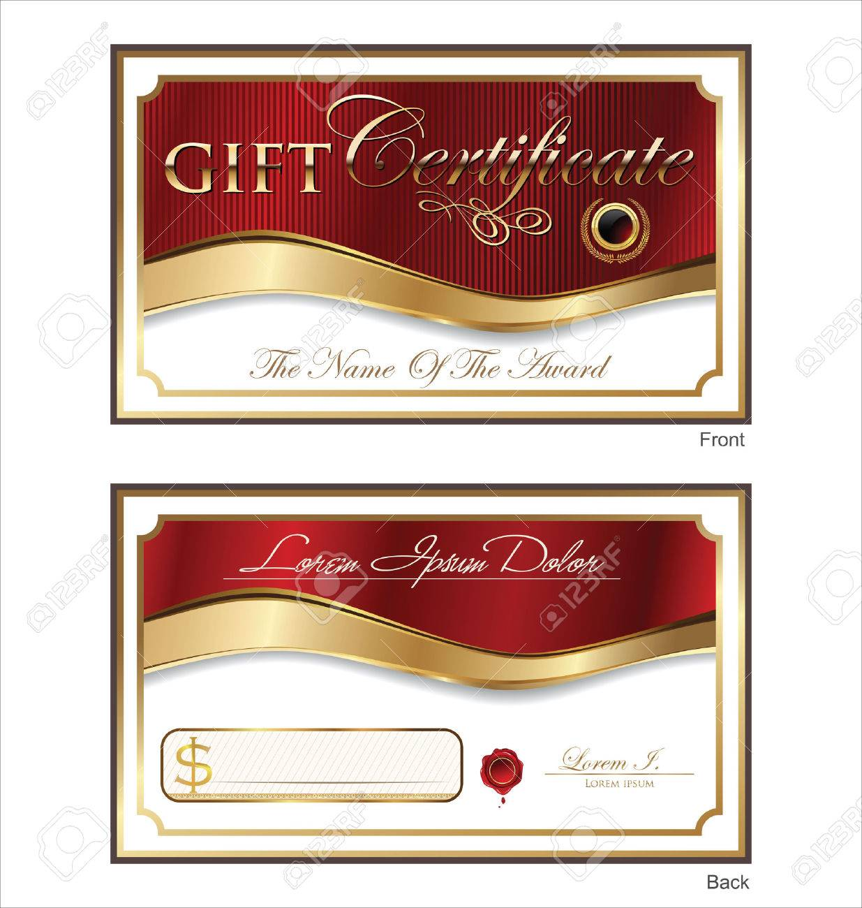 voucher gift certificate coupon template royalty cliparts voucher gift certificate coupon template stock vector 25041102