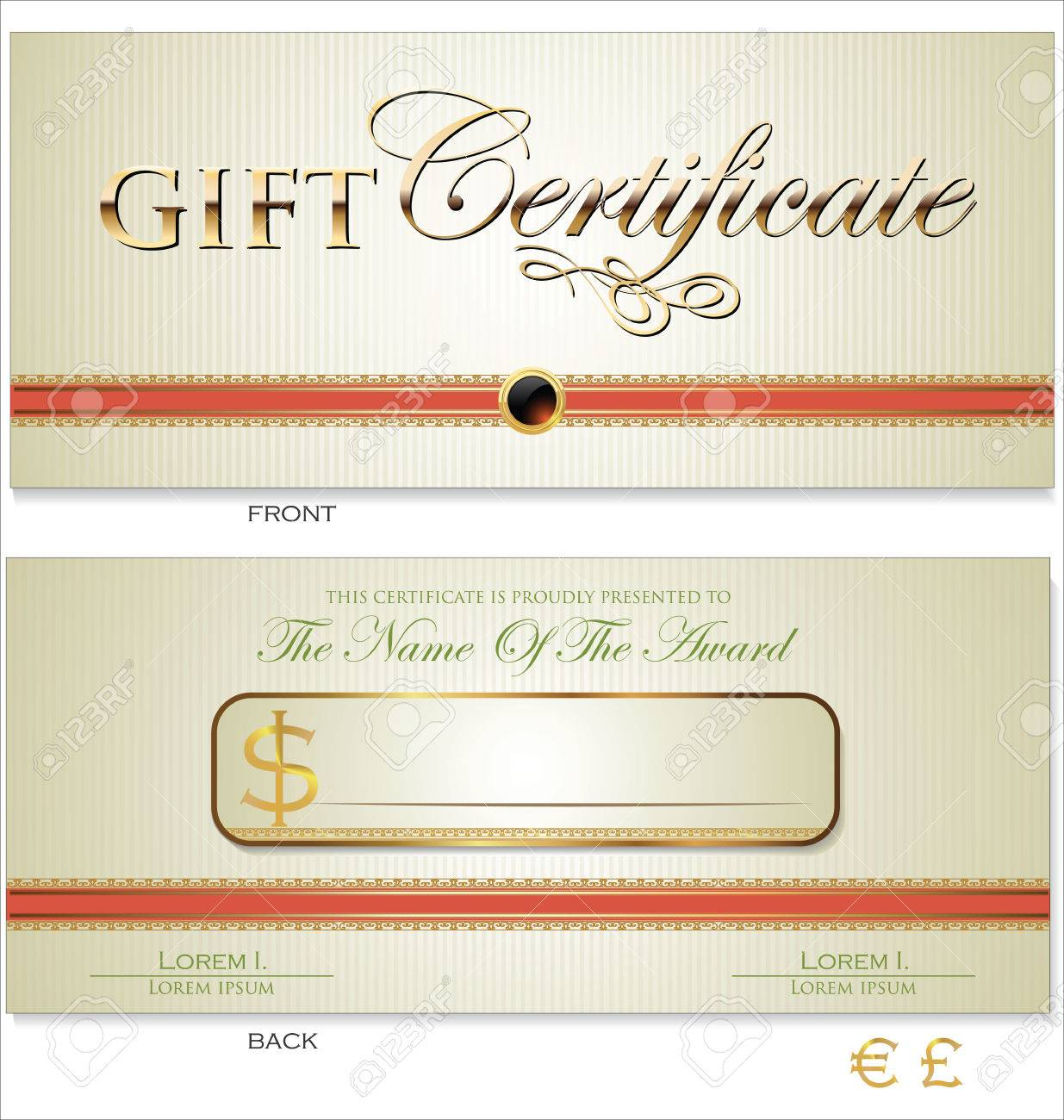 voucher gift certificate coupon template royalty cliparts voucher gift certificate coupon template stock vector 25041118