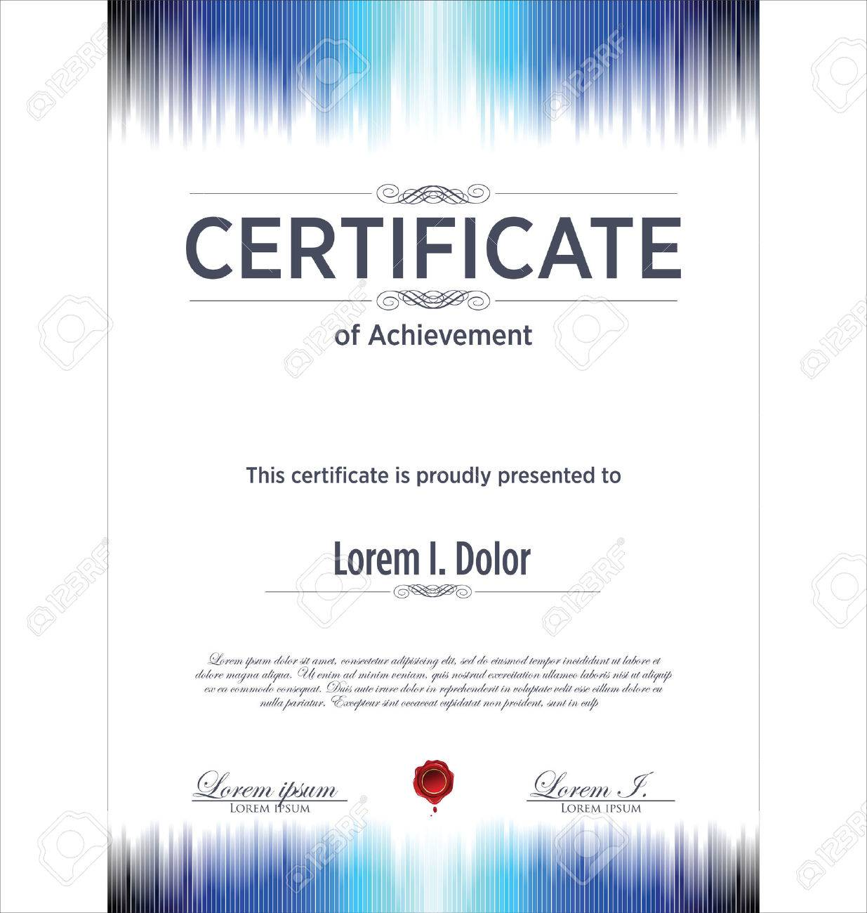 Blue Certificate Template Royalty Free Cliparts Vectors And Stock