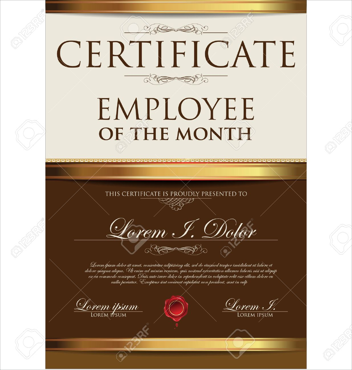 Certificate Template, Employee Of The Month Royalty Free Cliparts ...