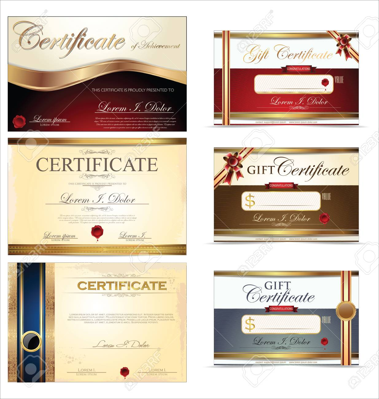 Certificate Template Collections Royalty Free Cliparts, Vectors, And ...
