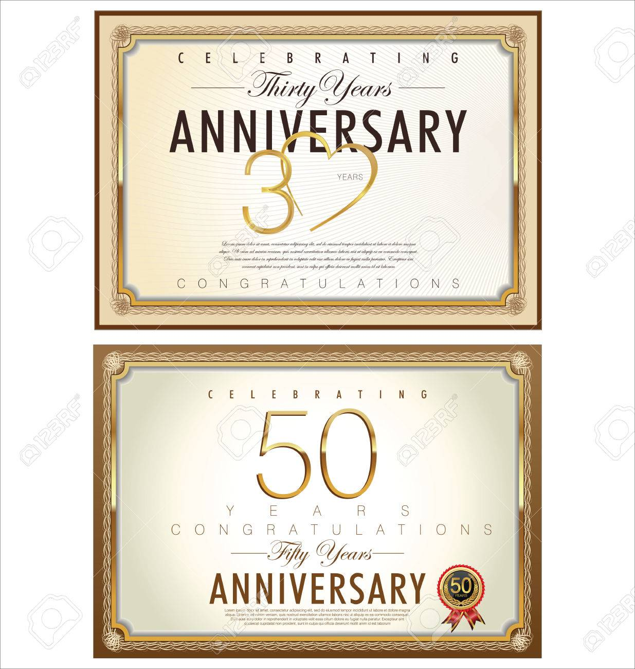 anniversary certificate template royalty free cliparts vectors and