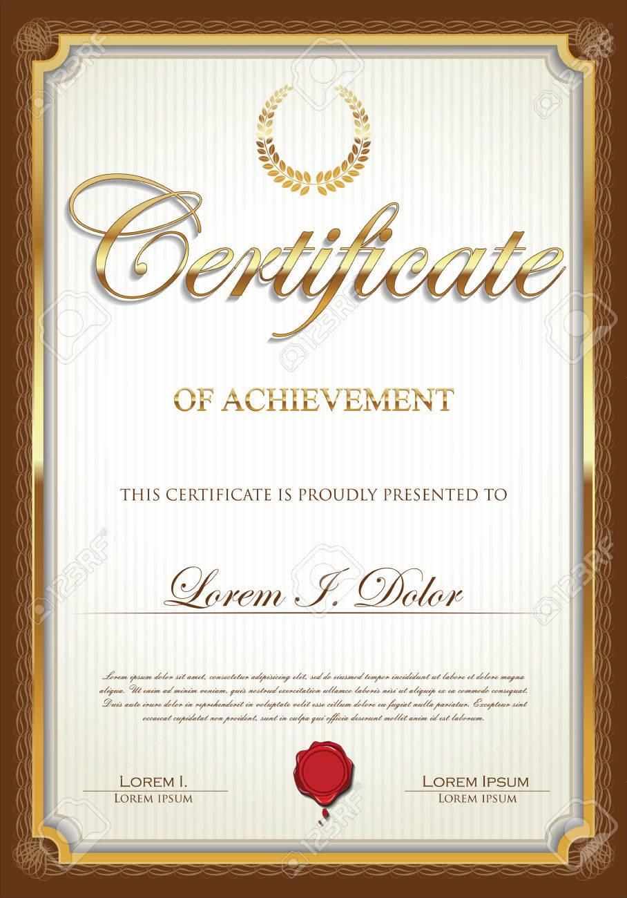 Zertifikatvorlage Lizenzfrei Nutzbare Vektorgrafiken, Clip Arts ...