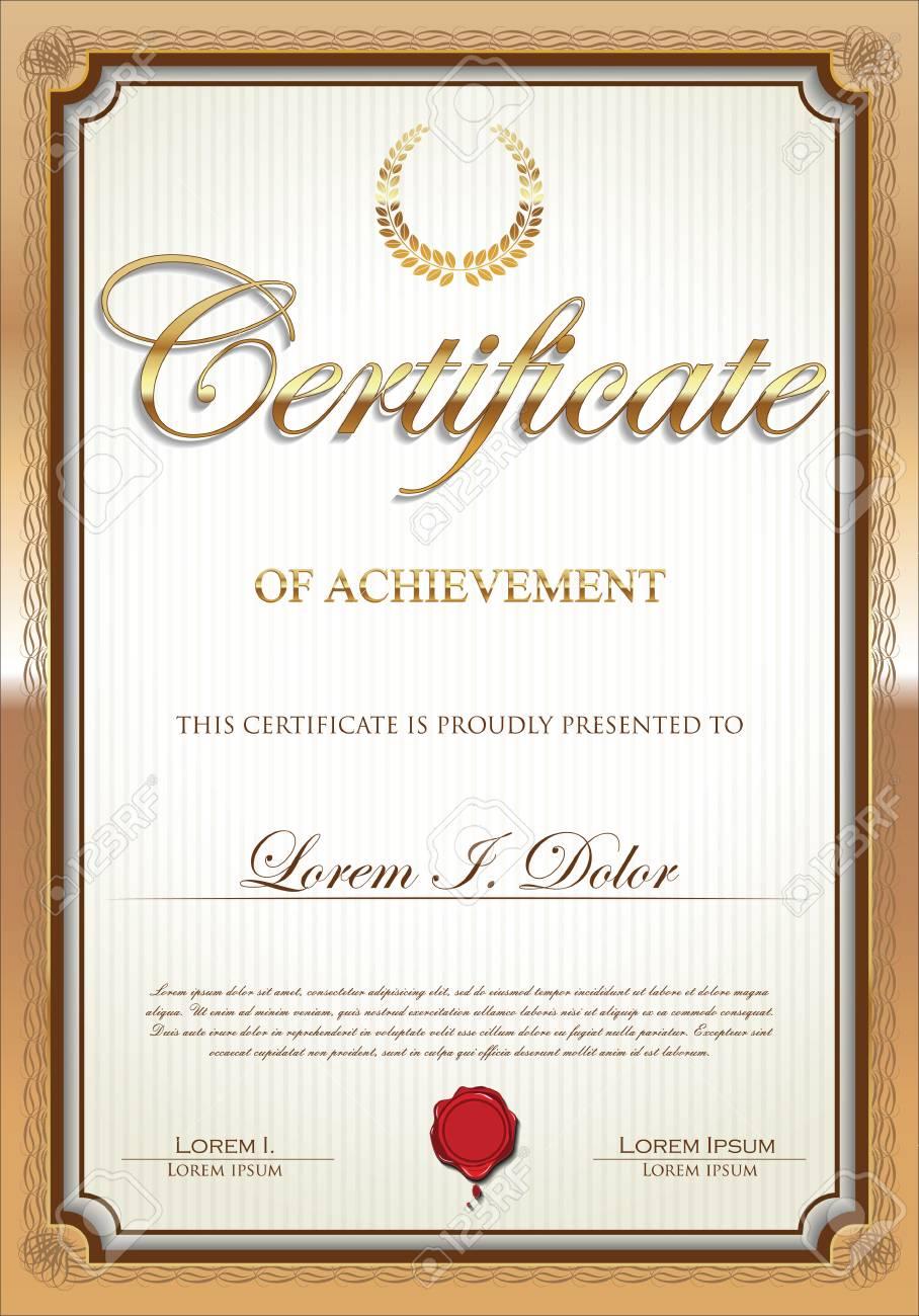 Plantilla De Certificado Ilustraciones Vectoriales, Clip Art ...