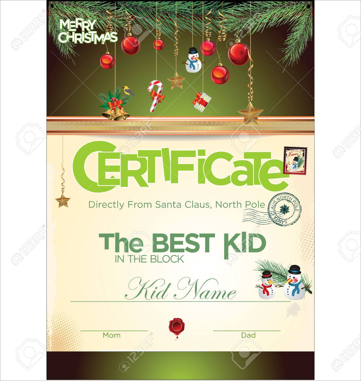 kids certificate for christmas royalty cliparts vectors and kids certificate for christmas stock vector 32142652