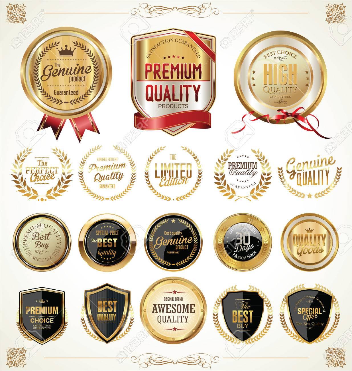 Golden labels collection illustration - 40073162