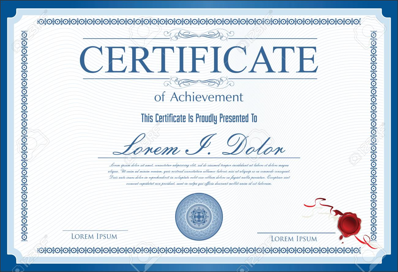 certificate diploma of completion royalty free cliparts vectors