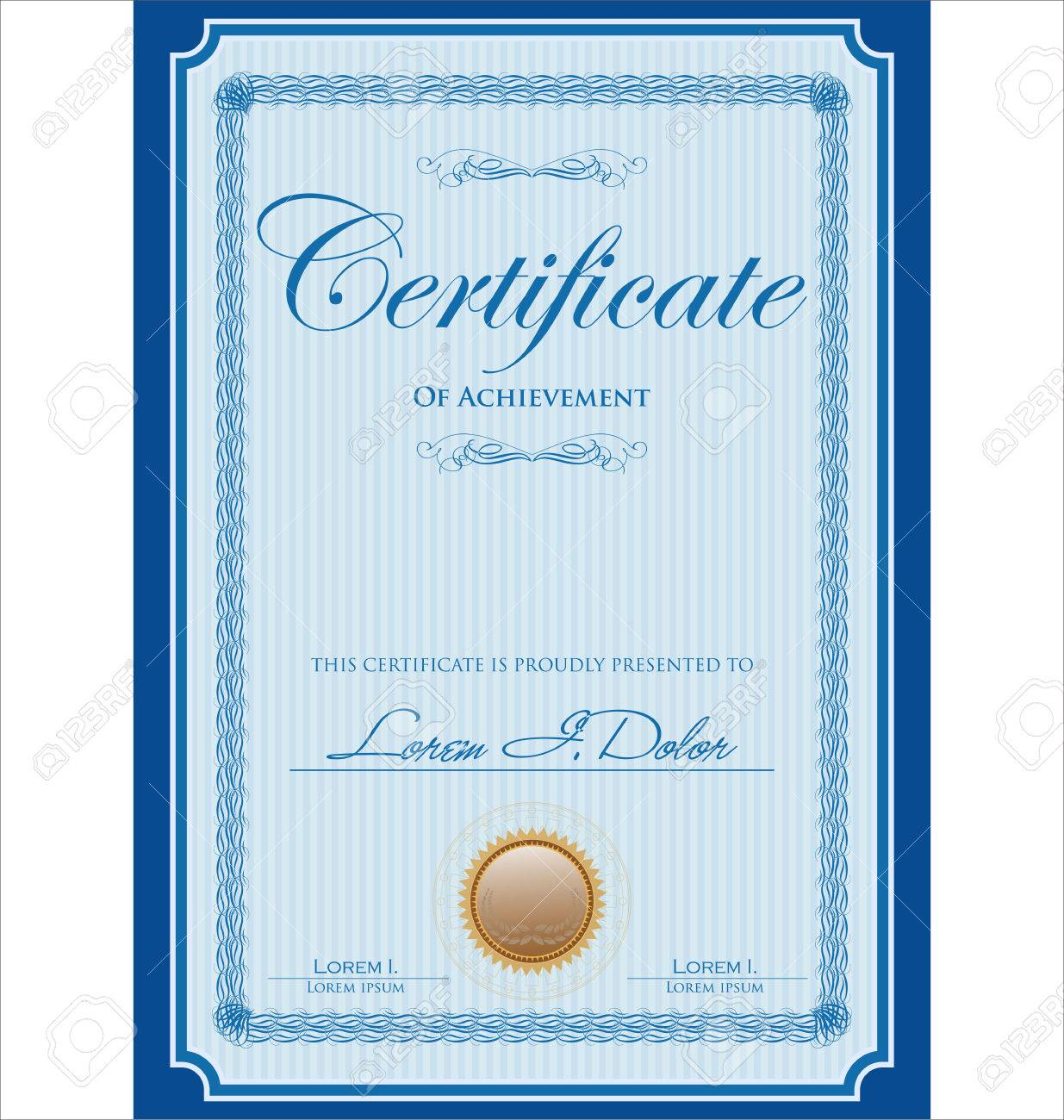Blue certificate or diploma template royalty free cliparts blue certificate or diploma template stock vector 48490398 xflitez Images