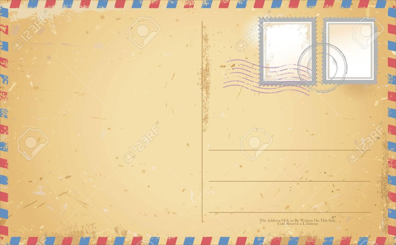 vector of old vintage postcard - 50076867