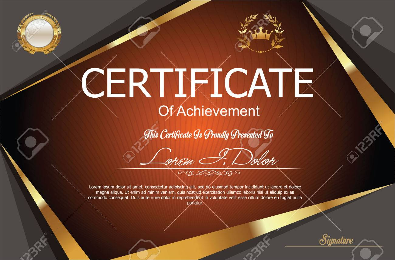 Modern Certificate Or Diploma Template Royalty Free Cliparts