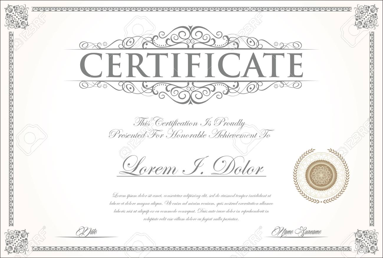 elegant certificate or diploma template royalty free cliparts