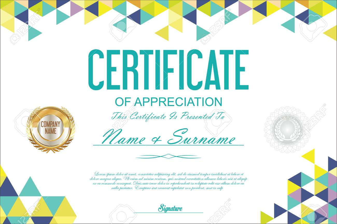 Certificate Template Abstract Geometric Design Background Royalty Free Cliparts Vectors And Stock Illustration Image 67682334