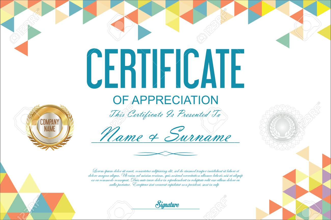 certificate template abstract geometric design background stock vector 67682338