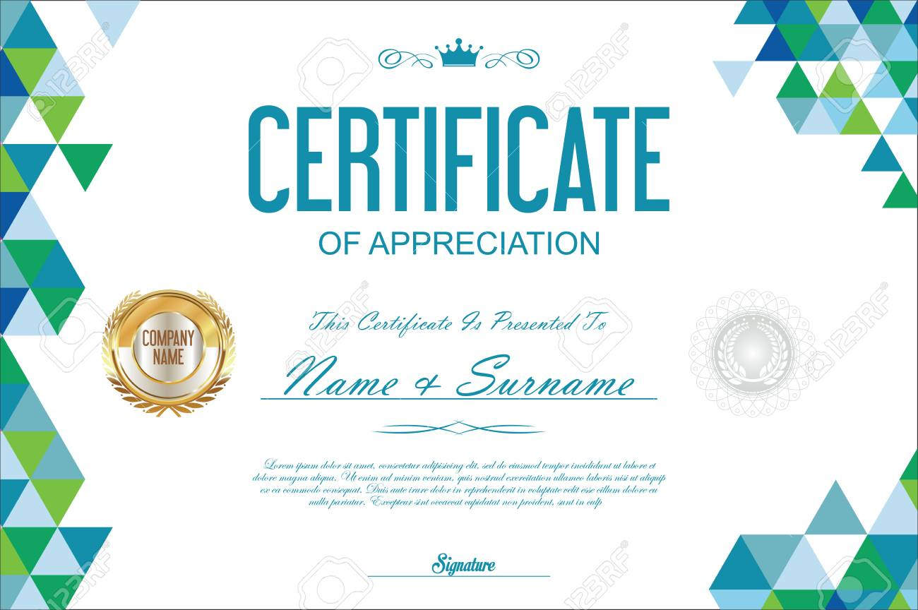 Certificate template abstract geometric design background royalty certificate template abstract geometric design background stock vector 67682329 yadclub Choice Image