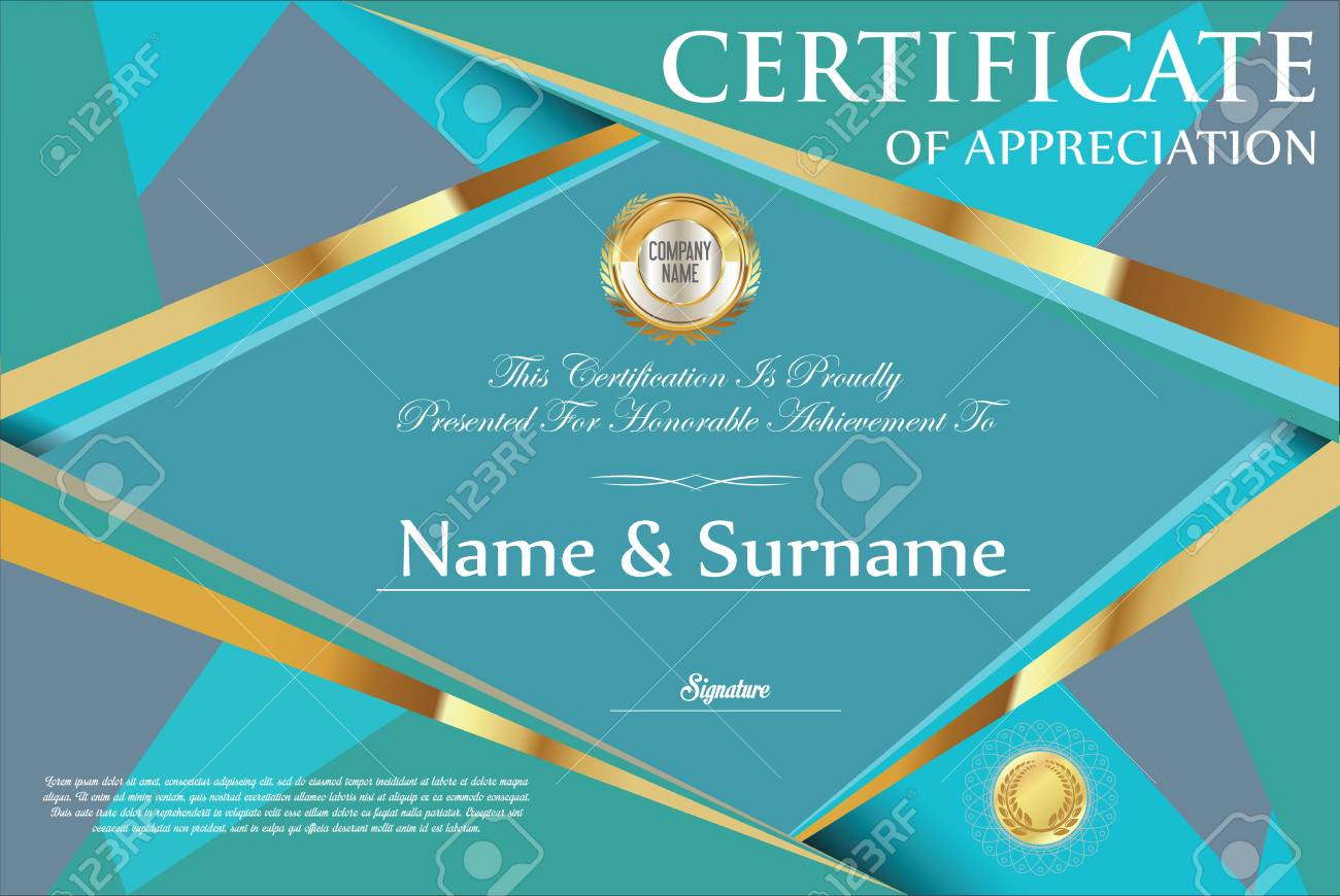 Certificate Retro Design Template Royalty Free Cliparts, Vectors ...