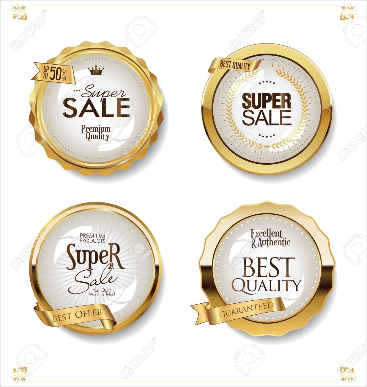 Luxury premium golden badges and labels - 121670117